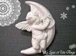壁掛け 月と天使