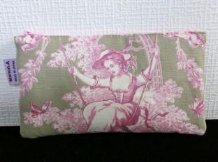 ポッシュアンジュプチ カーキ/ピンク