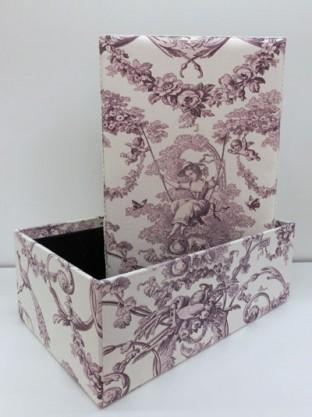 インテリアボックス 小 パープル